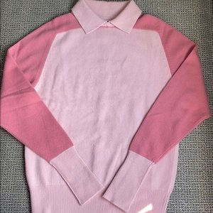 Chanel Two Tone Pink Color Block Cashmere Collar